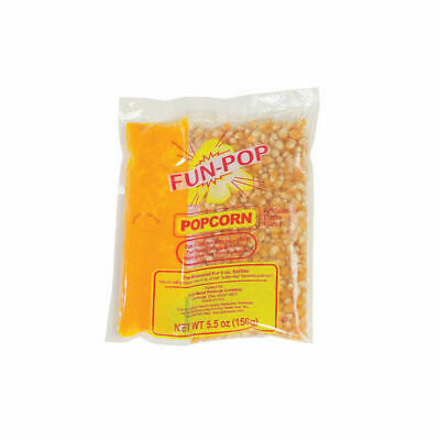 Popcorn Kit for 4 OZ Kettles. Kit includes Popcorn, Oil + Salt. Case of 12