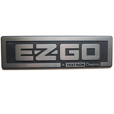 Silver & Black Name Plate Emblem for EZGO Golf Cart