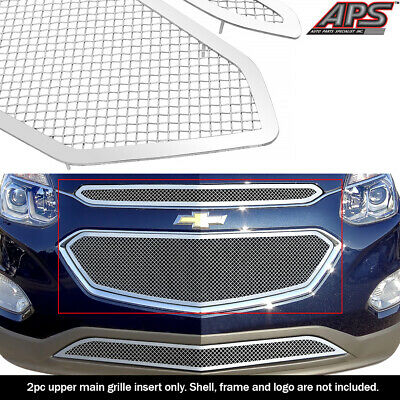 For 2016-2017 Chevy Equinox Stainless Steel Chrome Mesh Grille