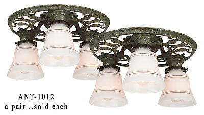 Matched pair of Turn of the Century,  Arts & Crafts, Chandeliers ANT-1012