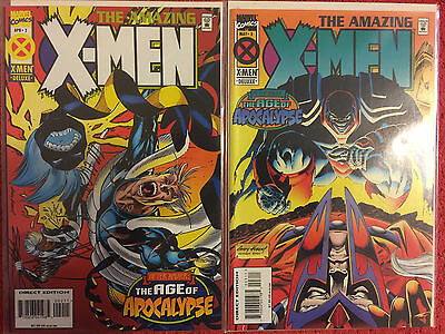 Amazing X-Men  2 3  Marvel RUN of 2 VF+ Age of Apocalypse Nicieza Kubert Ryan