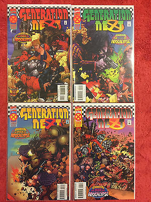Generation Next 1 2 3 4 Marvel RUN of 4 Complete VF+ 1995 Age of Apocalypse