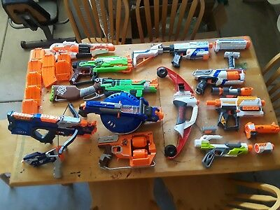 Nerf Gun Lot For Cheap All In Working Condition (Please Read Discription)