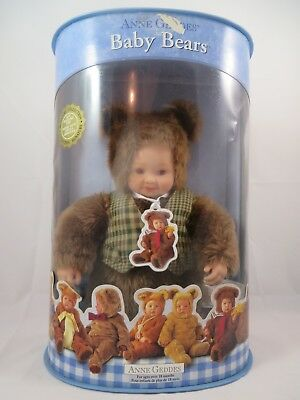 Anne Geddes Baby Bear Doll Stuffed Collector's Series 2002