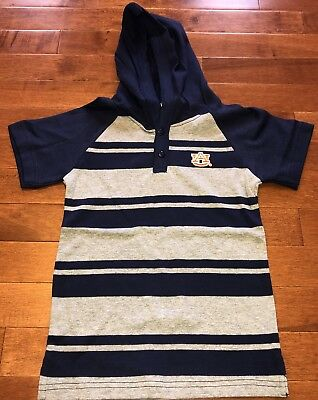 NCAA Licensed Auburn University Tigers Toddler Boy Hooded Shirt Top New 4T