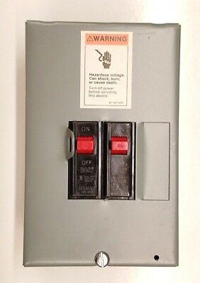 Westinghouse Circuit Breaker Sub Panel Box, 2x 1 Pole 20A, 120V 240V Indoor USA