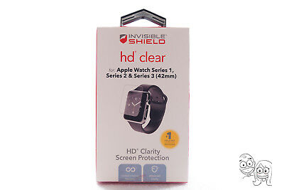 ZAGG Invisible Shield HD for Apple Watch Series 1 / 2 / 3 (42 mm) NEW OB