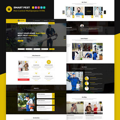 Smart Pest Control Multipurpose HTML Template , Domain and Hosting