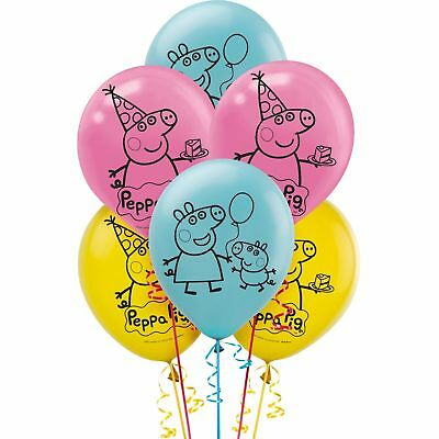 Peppa Pig Party Supplies Pack Of 6 Helium Quality Latex Balloons