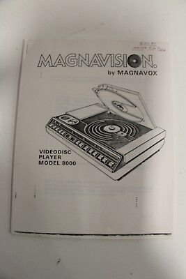 Magnavision Magnavox 8000 VideoDisc Player Maintenance Troubleshooting Manual