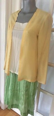 Vintage  Art Deco 1920's Silk 3 piece Outfit Yellow Green