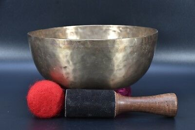 Antique copper meditation Hand hammered tibetan singing bowl therapy music Nepal