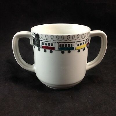 Rorstrand Sweden Tuff Tuff Train Double Handled Cup