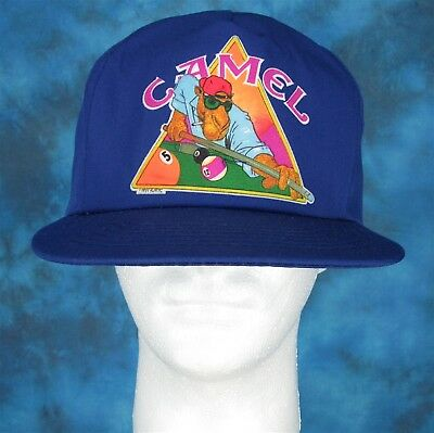 NOS vintage 90s CAMEL CIGARETTES SNAPBACK HAT cartoon billiards cap tobacco