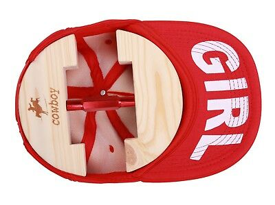 Wooden Hat stretchers for Men - Red Buckle - 52cm--63cm circumference