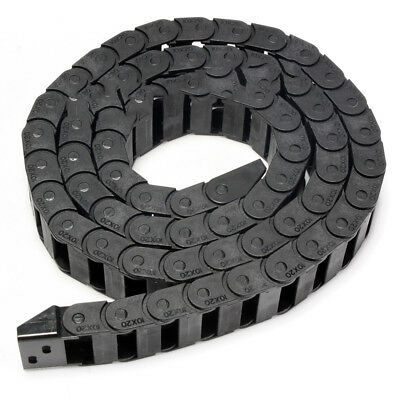 10 x 20mm R28 Cable Drag Chain Wire Carrier & End Connectors Plastic Towline