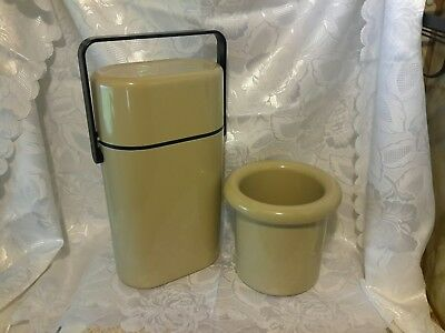 Retro Decor Two Bottle Wine Cooler & Matching Ice Bucket