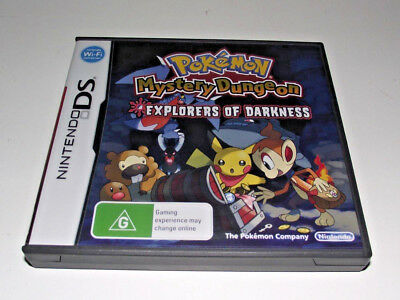 Pokemon Mystery Dungeon Explorers of Darkness Nintendo DS 2DS 3DS Game *Complete