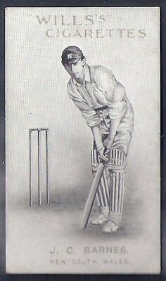 Wills-Australian/english Cricket Titled-Capstan Series Of 50-#27- Barnes