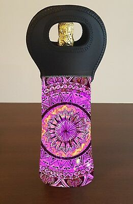 Mandala Personalised Wine Bottle Cooler Carry Bag