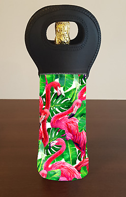 Flamingo Personalised Wine Bottle Cooler Bag