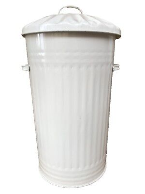 45L Metal Cream Bin, Waste Bin, Retro, Vintage, Dustbin, Horse Pet Feed Trash