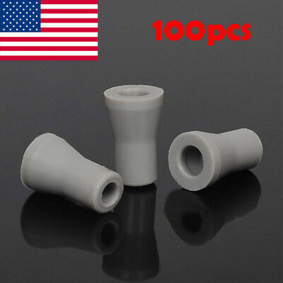 100X Dental Oral SE Saliva Ejector Replacement Rubber Valve Snap Tip Adapter