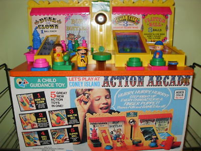 ***vintage Coney Island Hard To Find  Toy  Action Arcade Game***