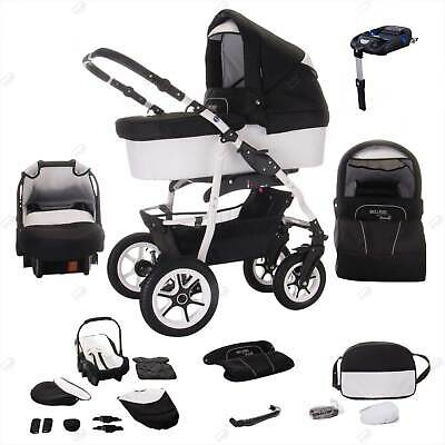 Bebebi Bellami | ISOFIX base & car seat | 4 in 1 pram & pushchair set | air whee