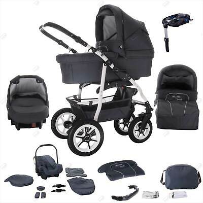 Bebebi Bellami | ISOFIX base & car seat | 4 in 1 pram & pushchair set | hard rub
