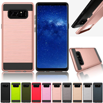 Hybrid Rugged Shockproof Rubber Hard Case Cover For Samsung Galaxy Note 9 8 5 4