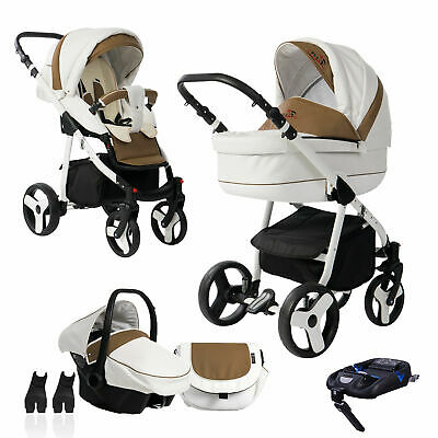 Bebebi Fizzy | ISOFIX base & car seat | 4 in 1 pram & pushchair set | air wheels