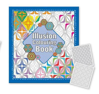 Adult Optical Illusion Colouring Book