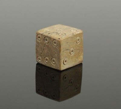 FABULOUS ANCIENT ROMAN CARVED DIE DICE - CIRCA 2nd Century AD 012