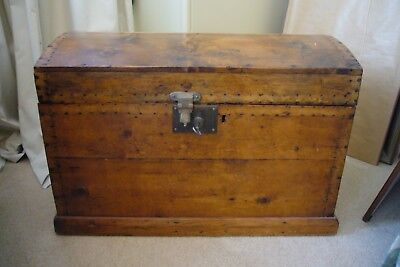 Antique Australian 1880's Dome Top Timber Chest