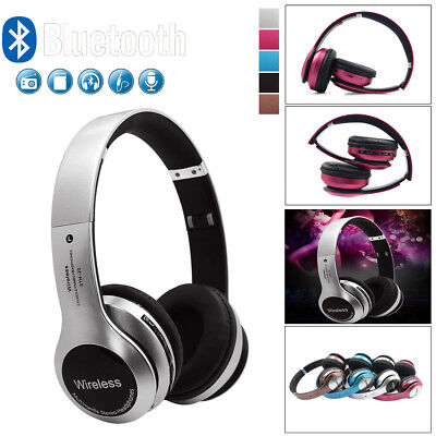 Wireless Headphones BT 4.1 Headset Noise Cancelling Over Ear Microphone US