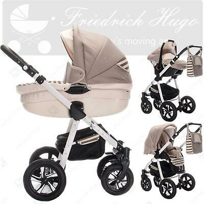 Friedrich Hugo Mandala | 3 in 1 pram & pushchair set travel set | air wheels