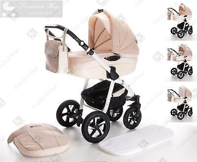Friedrich Hugo Mandala | 3 in 1 pram & pushchair set travel set | hard rubber wh