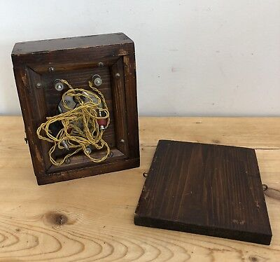 Vintage Wooden Cased Voltmeter with Wires SIFAM Brevete S.G.D.G