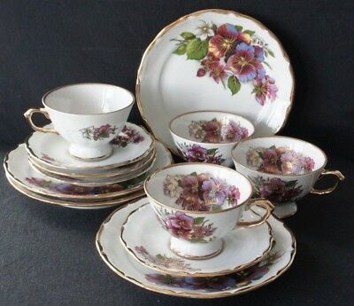 George V Royal Kent Collection SAMMELSERVICE (12 tlg, Tasse, Untertasse, Teller)