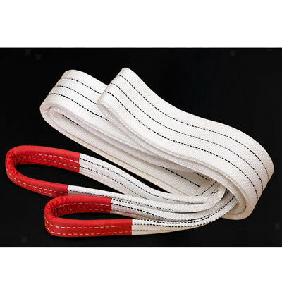 1-4M 3 Ton Heavy Duty Lifting Sling Towing Pulling Rope Strap, Reinforced