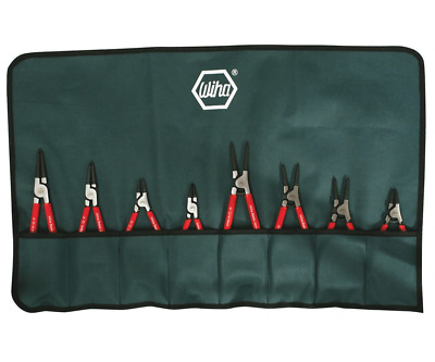Wiha 32693 8 Piece Internal/External Snap / Retaining Ring Pliers Set W/ Pouch