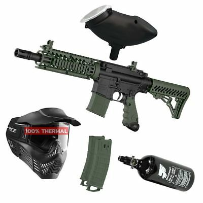 Paintball Set Tippmann TMC Magfed oliv, inkl. V-Force Thermal + HP + Munbox