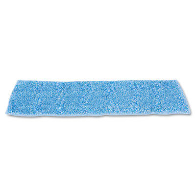 """Rubbermaid Economy Wet Mopping Pad, Microfiber, 18"""", Blue Q409BLUCT NEW"""
