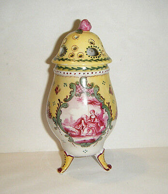 Vtg Meissen / Or Selb Porcelain Hand Painted Potpourri Footed Jar