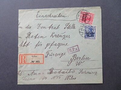 Lithuania 1916 Occupation M.P.k Censor Cover - Z7777