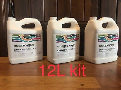 ECOPOXY Liquid Plastic - 2:1 Kit - 12 liter kit River table epoxy