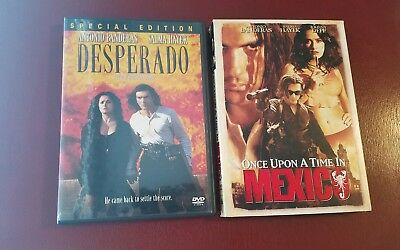 Robert Rodriguez 2 movie set, DVD. Desperado, Once Upon A Time In Mexico.