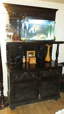 Genuine antique victorian panelled cupboard - REDUCED FOR QUICK SALE