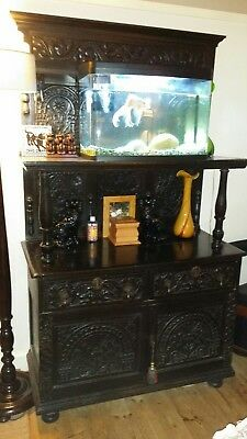 Genuine antique victorian panelled cupboard - serious offers over £250 accepted.